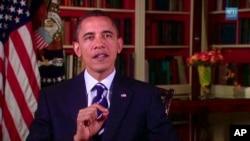 President Barack Obama delivers his weekly address 14 Aug 2010