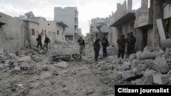 Dîmenek ji ji bajarê Kobanê (Foto: Perwer Alî)