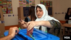 Kurdistan parliamentary elections, Saturday, September 21, 2013