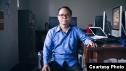 Aun Pheap, a former reporter at the Cambodia Daily, feared arrest on charges related to reporting prior to the June 2017 local elections and sought political asylum in the United States. (Courtesy photo of Cambodia Daily)