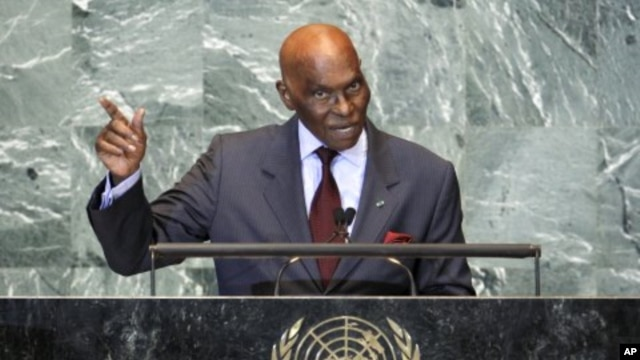 Senegal's President Abdoulaye Wade addresses the 66th United Nations General Assembly at the UN headquarters in New York (File Photo - September 21, 2011).