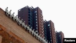 北京一个住宅区的公寓楼