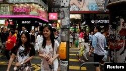香港銅鑼灣購物區(路透社)