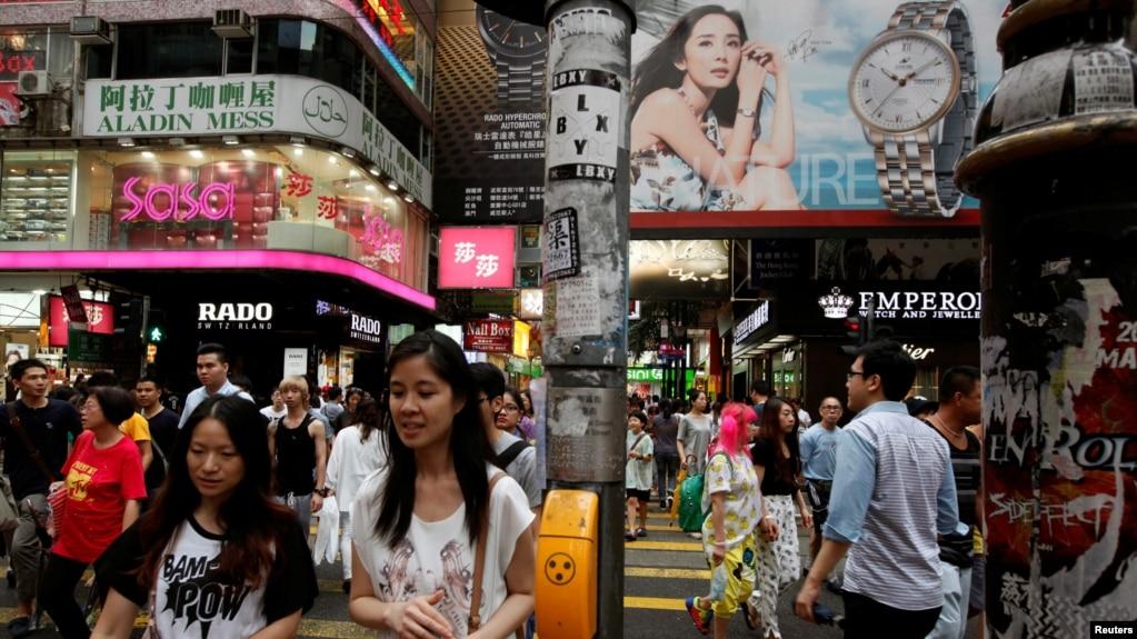 香港铜锣湾购物区(路透社资料照)