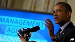 Obama aseguró que la estructura del gobierno de EE.UU. también debería ser rediseñado.