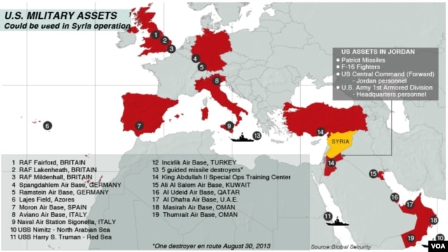 U.S. Military Assets - August 30, 2013