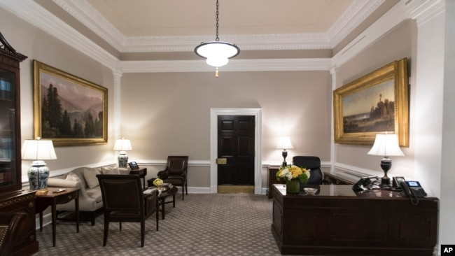 The Newly Renovated West Wing Lobby Of The White House Is Seen In  Washington, Aug