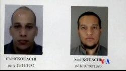2015-01-08 美國之音視頻新聞: 法國警方追緝巴黎血案疑兇期間拘捕七人