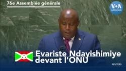 Evariste Ndayishimiye devant l'ONU
