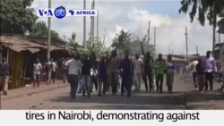 VOA60 Africa - At Least One Killed in Kenya Protests
