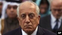 美国阿富汗和解问题特使哈利勒扎德3月9日在喀布尔参加阿富汗总统的就职典礼。