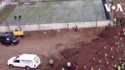Des images de drones ont montré de nouvelles inhumations dans un cimetière désigné pour les victimes du COVID-19