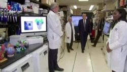 Trump Tours NIH Vaccine Research Center
