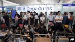 Sân bay Hong Kong hôm 13/8/2019.