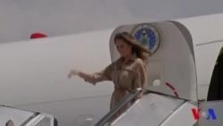 Melania Trump arrive au Malawi (vidéo)
