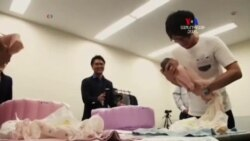 SHORT VIDEO: Ճապոնիայում չամուսնացած տղամարդիկ նորածինների խնամքի վերաբերյալ դասերի են հաճախում