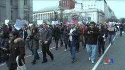 2017-01-31 美國之音視頻新聞: 全美各地抗議川普新移民行政令