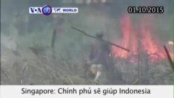 Singapore giúp Indonesia dập cháy rừng gây khói mù (VOA60)