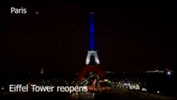 Eiffel Tower Reopens in Paris