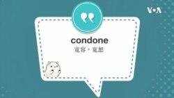 学个词--condone