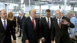 Trump Tours Boeing Facility