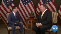 Secretary of State Mike Pompeo Talks to VOA