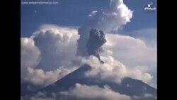 Ерупција на вулканот Колима во Мексико