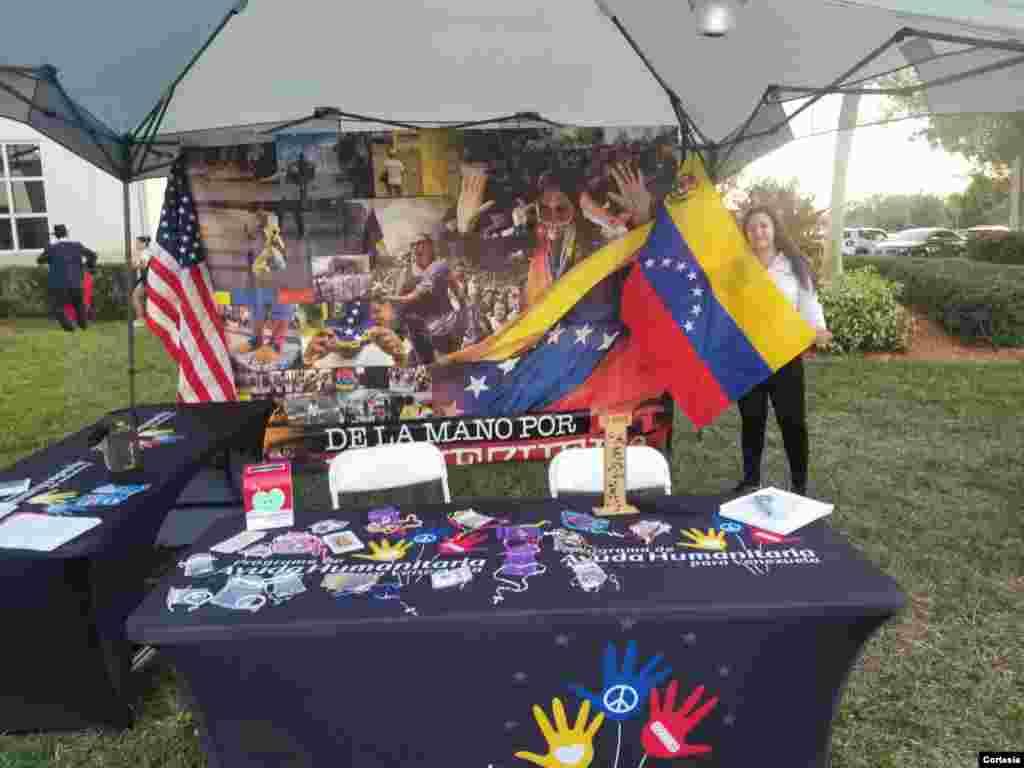 Una muestra de algunos de los proyectos nucleados alrededor del Programa de Ayuda Humanitaria para Venezuela. [Foto: Cortesía PAHV]