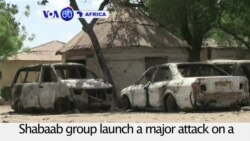 VOA60 Africa - Somalia: al-Shabaab attack near Mogadishu kills at least 10