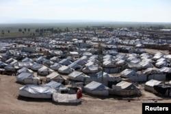 Arhiva - Pogled na kamp za raseljene Al Hol u pokrajini Hasakah, Sirija, 2. aprila 2019.