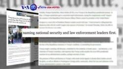 Manchetes Americanas 18 Novembro: Donald Trump tem como prioridade a Segurança Nacional e a Defesa