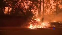 2018-08-09 美國之音視頻新聞: 加州官員警告要到9月才能遏制史上最大山火