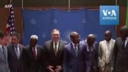 Le secrétaire d'État américain Mike Pompeo rencontre Macky Sall à Dakar
