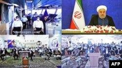 22일 하산 로하니 이란 대통령이 오만만에 건설된 자스크 석유 터미널 완공식에 테헤란에서 화상으로 참석했다.