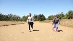 L'athlète malvoyante Taonere Banda aux Jeux paralympiques