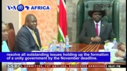 VOA60 Africa - S. Sudan: President Kiir and opposition leader Machar pledge to resolve all outstanding issues