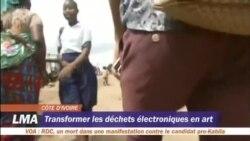 Recyclage des déchets électroniques en Côte d'Ivoire.