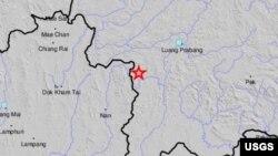 Thailand's earthquake location map, Nov. 21, 2019 (Credit: USGS)