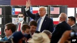 2020年7月29日特朗普总统在德克萨斯州米德兰就美国能源生产发表讲话。
