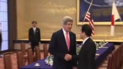 克里与日本首相安倍晋三商讨朝鲜问题