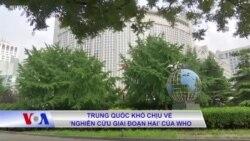 Trung Quốc khó chịu về 'nghiên cứu giai đoạn hai' của WHO