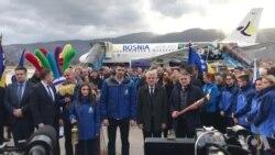 Olimpijska baklja mira EYOF stigla u Sarajevo