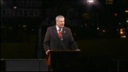 New York City Mayor Bill de Blasio Speaks at Protests