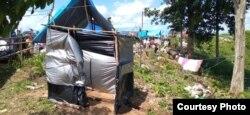 Emergency public toilets made around the refugee camps in the palm oil plantation area of the village of Maipi, Masamba, North Luwu (July 23, 2020) Photo: Zwaeb Laibe / SAR Mapala Muhammadiyah Indonesia