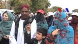 لاپتہ افراد کے لواحقین کا لانگ مارچ اسلام آباد پہنچ گیا۔