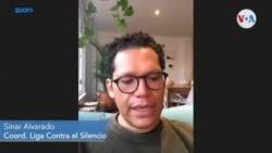 Sinar Alvarado, coordinador de la Liga Contra el Silencio, en Colombia
