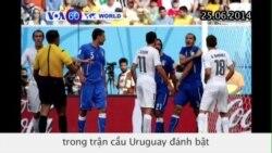 Cầu thủ Luis Suarez đối mặt với lệnh cấm thi đấu (VOA60)
