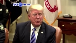 VOA60 America - President Trump says that a major conflict with North Korea is possible