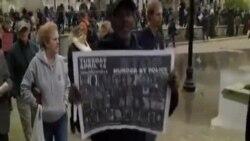 美國巴爾的摩居民抗議警方迫害少數族裔