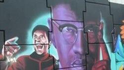 A Dakar, soutien au mouvement Black Lives Matter par des fresques murales